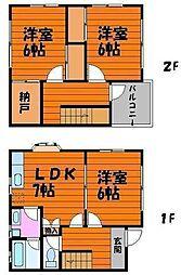 [テラスハウス] 岡山県岡山市南区泉田4丁目 の賃貸【/】の間取り