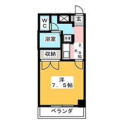アトリエ818[1階]の間取り