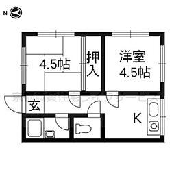 高島荘[3-2号室]の間取り