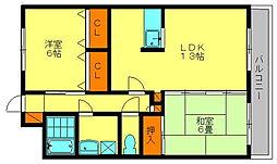 フォルトアークII[2階]の間取り