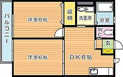 サンハイムせんりII[2階]の間取り