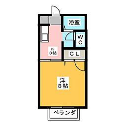 コーポ有賀[1階]の間取り