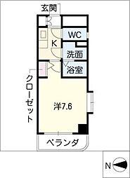 現代ハウス黄金[6階]の間取り