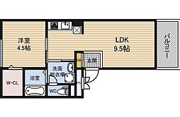 Red House West[3階]の間取り