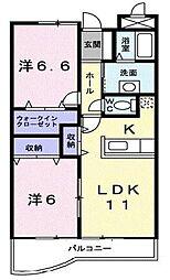 イースト・エクセル[2階]の間取り