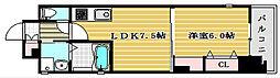 ジューム南船場[11階]の間取り