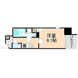 JR東西線 大阪天満宮駅 徒歩1分の賃貸マンション 5階1Kの間取り