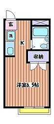 コーポルグラン[2階]の間取り
