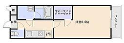 リバーサイド 東久宝寺 八番館[1階]の間取り