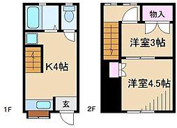 [テラスハウス] 東京都北区田端2丁目 の賃貸【/】の間取り