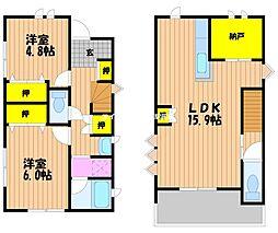 [一戸建] 岡山県岡山市南区西市丁目なし の賃貸【/】の間取り