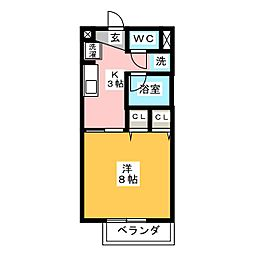 サープラスヤマダ[1階]の間取り