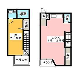 Aー1スクエア[2階]の間取り