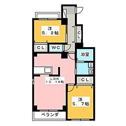 Wind Court[1階]の間取り