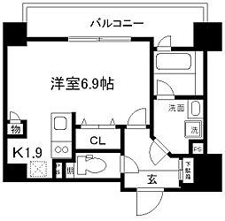 ALTA京都堀川ウインドア[403号室]の間取り