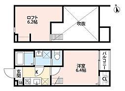 CASA MIYASHITA(カーサ ミヤシタ)[202号室]の間取り