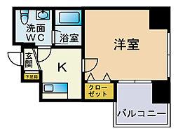 ラフォーレ博多[8階]の間取り