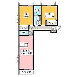コントレール[3階]の間取り