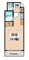 CTビュー小阪[1階]の間取り