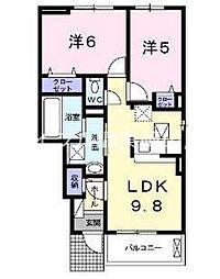 岡山県岡山市東区瀬戸町江尻丁目なしの賃貸アパートの間取り
