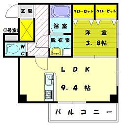 ワイズマンション弐番館[5階]の間取り