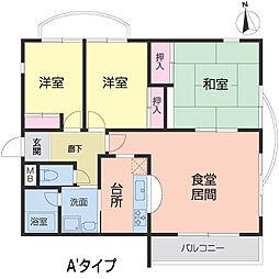 メゾンドール夙川台[0304号室]の間取り