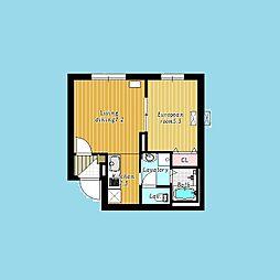 札幌市営南北線 麻生駅 徒歩3分の賃貸マンション 1階1LDKの間取り