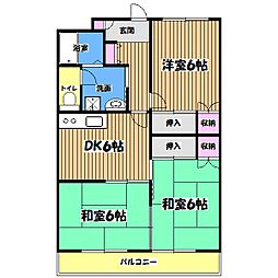 コンフォート22[2階]の間取り