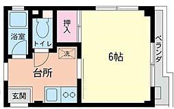 神奈川県大和市つきみ野7丁目の賃貸マンションの間取り