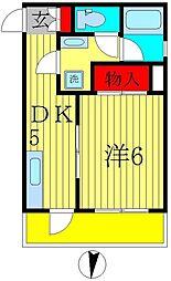 ポルシェ北松戸[5階]の間取り