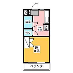 ビラ柳ストリート[4階]の間取り