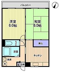 エスタシオン渋谷[114号室]の間取り