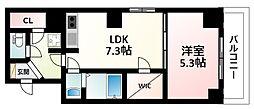 Osaka Metro御堂筋線 新大阪駅 徒歩3分の賃貸マンション 12階1LDKの間取り