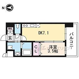 (仮称)アンフィニXVIIマローネ 8階1DKの間取り