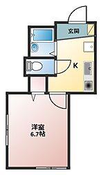 コーポ上永谷(コーポカミナガヤ)[1階]の間取り