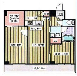 大阪府大阪市大正区泉尾5丁目の賃貸マンションの間取り