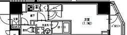 東武伊勢崎線 曳舟駅 徒歩5分の賃貸マンション 4階1Kの間取り