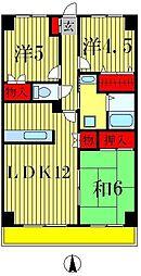 グランディス新八柱[7階]の間取り