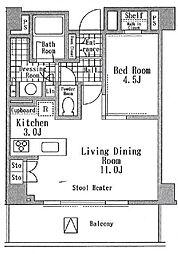 アルビン六本木レジデンス[2階号室]の間取り
