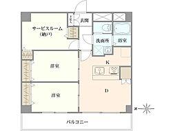 大森町駅3分 3 L D K 7階部角 部 屋 充実管理