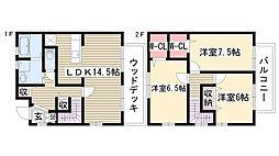 [テラスハウス] 愛知県日進市岩崎台2丁目 の賃貸【/】の間取り