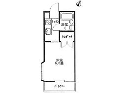 アクアアパート堀之内[2階]の間取り