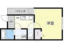阪神本線 千船駅 徒歩7分の賃貸アパート 1階1Kの間取り