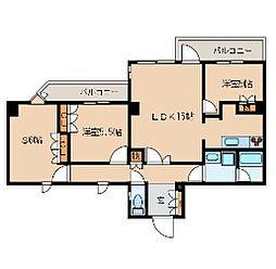 東京メトロ有楽町線 護国寺駅 徒歩2分の賃貸マンション 3階3LDKの間取り