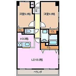 松本ダイヤマンション[1階]の間取り