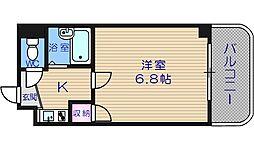大阪府大阪市西区南堀江3丁目の賃貸マンションの間取り