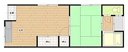 旭ヶ丘南住宅2階Fの間取り画像