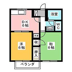 リバーサイド大竹A・B[1階]の間取り