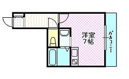 おしゃれマンション[2階]の間取り