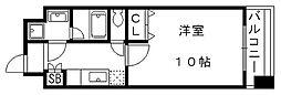 京都府京都市山科区竹鼻堂ノ前町の賃貸マンションの間取り